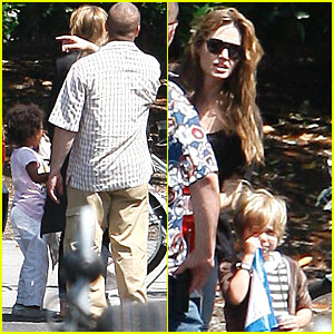 Angelina Jolie: Party with Zahara & Shiloh!