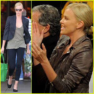 Charlize Theron is a Lakers Lady