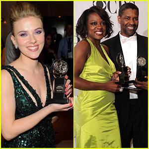 Scarlett Johansson & Denzel Washington: Tony's Top Winners!