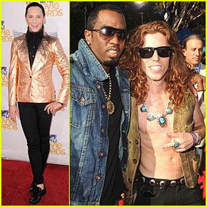 Shaun White & Johnny Weir - MTV Movie Awards 2010 Red Carpet