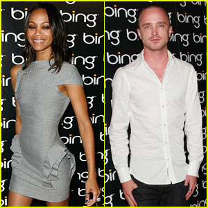 Zoe Saldana &#038; Aaron Paul: Bing Bunch