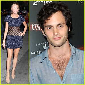 Blake Lively & Penn Badgley: 'Twelve' Twosome
