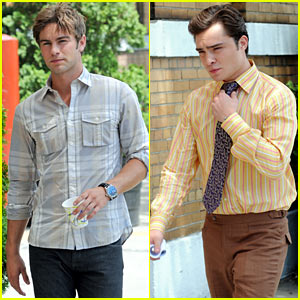 Chace Crawford & Ed Westwick: Back in the Big Apple!
