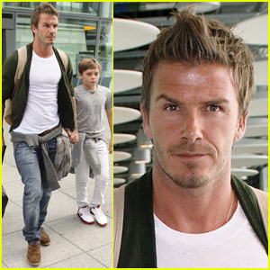 David Beckham &#038; Brooklyn Beckham: On To Wimbledon!