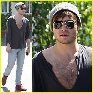 Ed Westwick: Chest Hair Proud