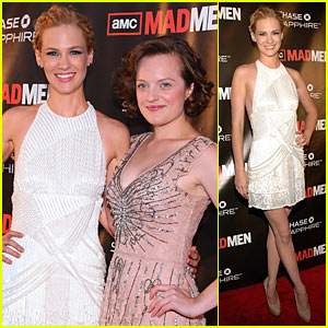 January Jones: 'Mad Men' Premiere with Elisabeth Moss!