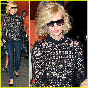 January Jones: Lace from Front to Back