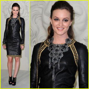 Leighton Meester: Front Row at Chanel Fashion Show!
