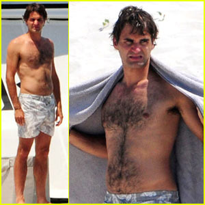 Roger Federer: Shirtless Mediterranean Man!