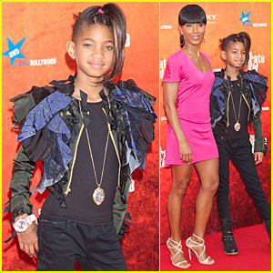 Willow Smith Jaden Rip The Runway Red