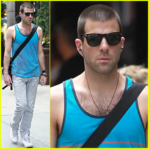 Zachary Quinto: Shaved Head!