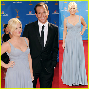 Amy Poehler & Will Arnett - Emmys 2010 Red Carpet