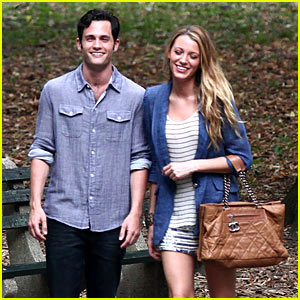 Blake Lively & Penn Badgley: Central Park Pair