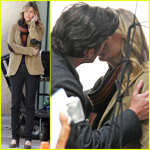 Ellen Pompeo & Patrick Dempsey: Kiss Kiss!