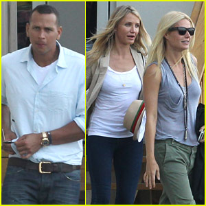 Gwyneth Paltrow: Helicopter Ride with Cameron Diaz & A-Rod!