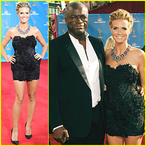 Heidi Klum & Seal - Emmys 2010 Red Carpet