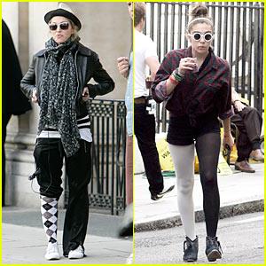 Madonna & Lourdes: Mismatching Pant Legs!