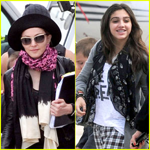 Madonna &#038; Lourdes: Bourget Private Jet!