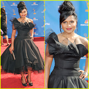 Mindy Kaling - Emmys 2010 Red Carpet