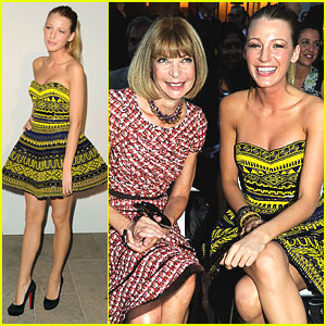Blake Lively: Front Row at Fashion's Night Out