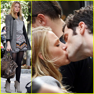 Blake Lively & Penn Badgley: XOXO on 'Gossip Girl' Set!