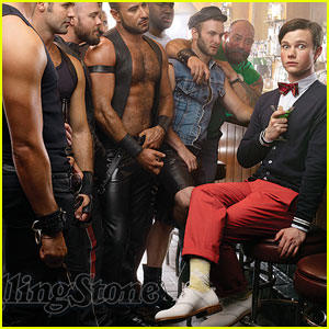 Chris Colfer Bears It For Rolling Stone