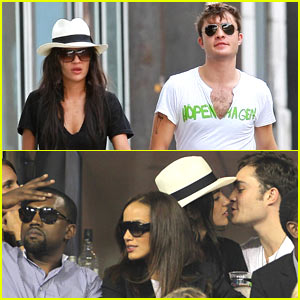 Ed Westwick & Kanye West: Double Date