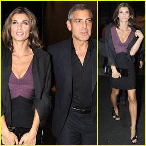 George Clooney & Elisabetta Canalis: Nobu Night