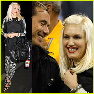 Gwen Stefani: US Open with Gavin Rossdale!