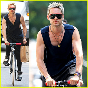 Jared Leto: Bicycle Boy in Soho