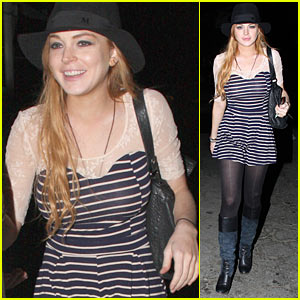 Lindsay Lohan Chooses AA Meeting Over Clubbing
