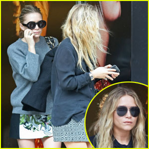 Ashley Olsen: McQueen Boutique with Mary-Kate!