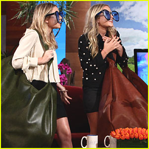 Mary-Kate & Ashley Olsen: Big Bags & Oversized Sunglasses on Ellen!