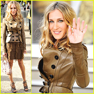 Sarah Jessica Parker: Burberry Prorsum at London Fashion Week!