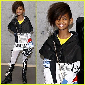 Willow Smith: Front Row for Armani Fashion Show!