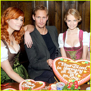 Alexander Skarsgard Promotes True Blood in Germany