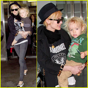 Ashlee Simpson & Bronx Wentz: Blonde Locks at LAX