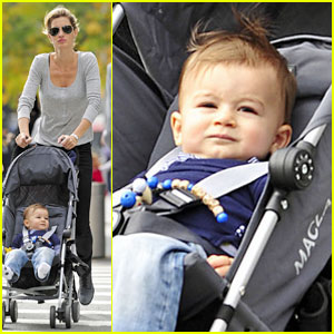 Gisele Bundchen & Baby Benjamin: Central Park Pair