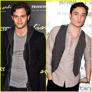 Penn Badgley & Ed Westwick: NYC Party Pals