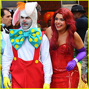 Rachael Ray is Jessica Rabbit -- Halloween Costume Revealed!