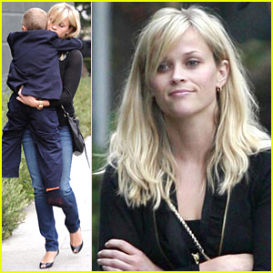Reese Witherspoon Carries Deacon To