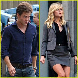Reese Witherspoon & Chris Pine Work on 'War'