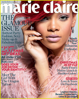 Rihanna Covers 'Marie Claire UK' December 2010