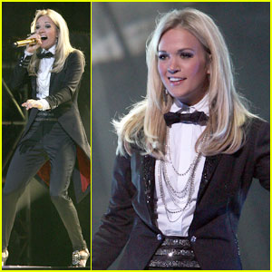 Carrie Underwood: Tailcoat & Bowtie For NY Concert!
