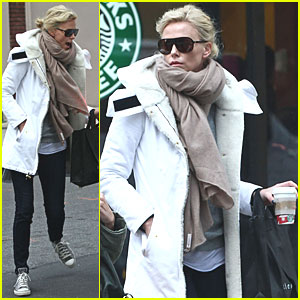 Charlize Theron: Saturday Starbucks Run