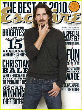 Christian Bale Covers 'Esquire' December 2010