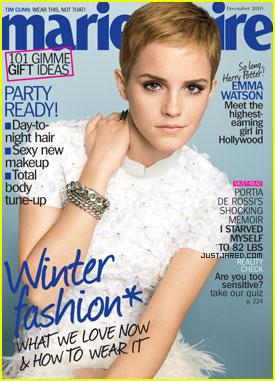 Emma Watson Covers 'Marie Claire' December 2010
