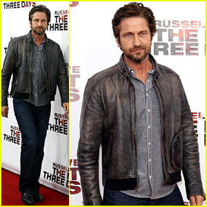 Gerard Butler: 'Next Three Days' Premiere with Russell Crowe!