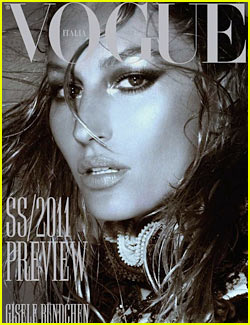 Gisele Bundchen Covers 'Vogue Italia' December 2010