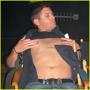 Jensen Ackles: Shirtless on 'Supernatural' Set!